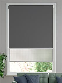 Double Roller Iron Grey Double Roller Blind thumbnail image