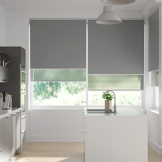 Double Roller Mid Grey Blind