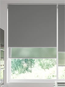 Double Roller Mid Grey Double Roller Blind thumbnail image