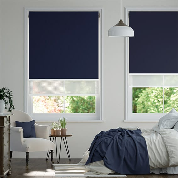Double Roller Navy Blind
