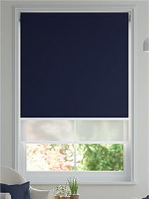 Double Roller Navy Double Roller Blind thumbnail image