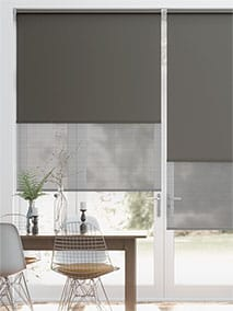 Double Roller Pewter Double Roller Blind thumbnail image