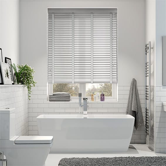 Dove Madera & Quicksilver Faux Wood Blind - 35mm Slat