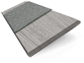 Dover Grey & Grey Faux Wood Blind - 50mm Slat slat image