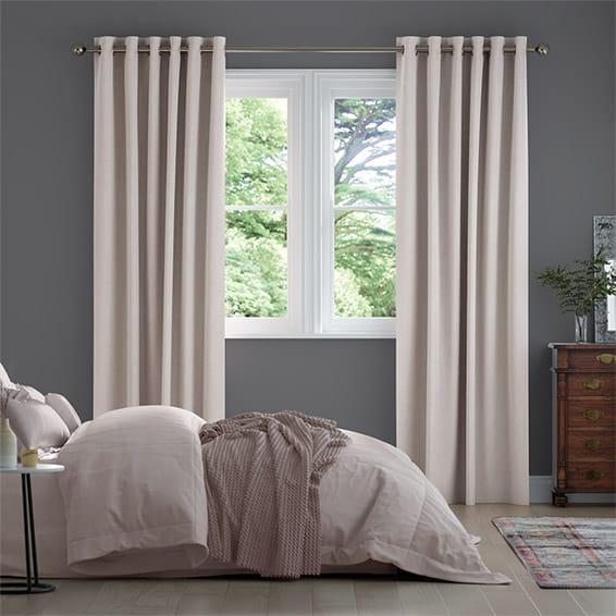DuJour Velvet Blush Curtains