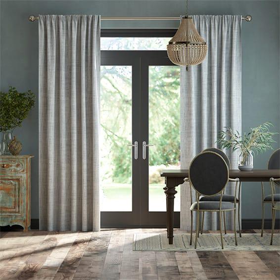 DuJour Velvet Silver Curtains