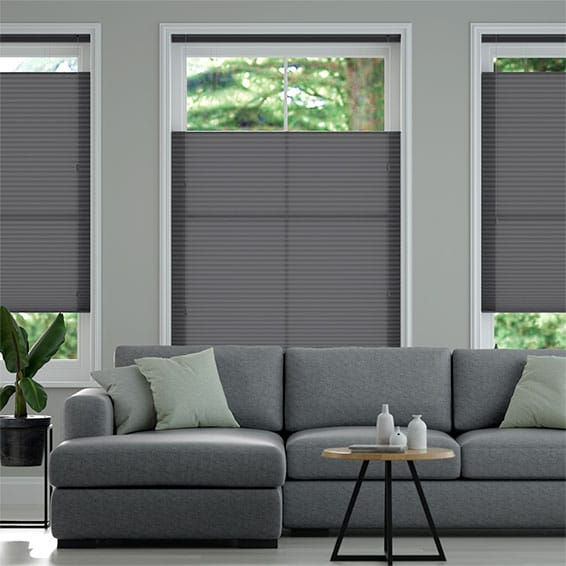 DuoLight Anthracite  Top Down/Bottom Up Thermal Blind