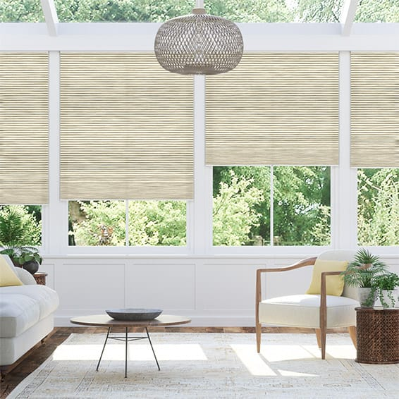 DuoLight Cordless Grain Parchment Thermal Blind