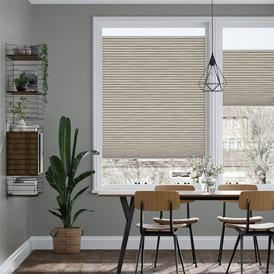 PerfectFIT DuoLight Grain Fossil Grey Thermal Blind