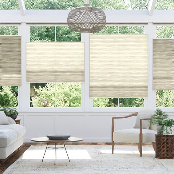 DuoLight Grain Parchment Top Down Bottom Up Thermal Blind