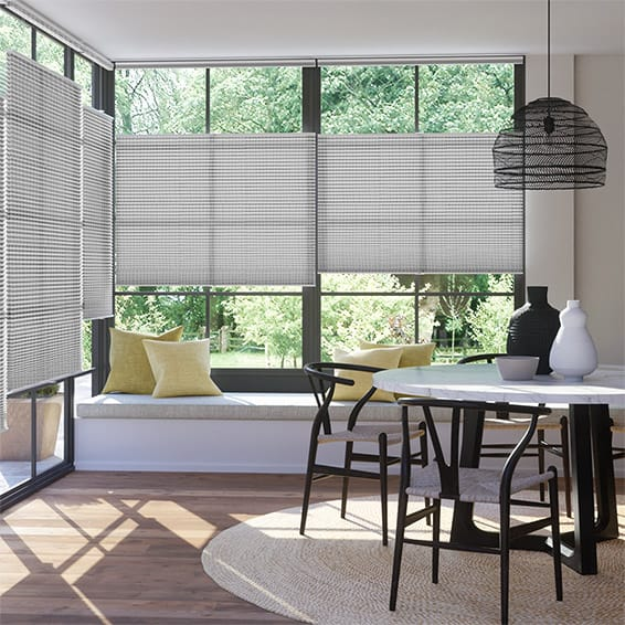 DuoLight Mosaic Cool Grey Top Down Bottom Up Thermal Blind