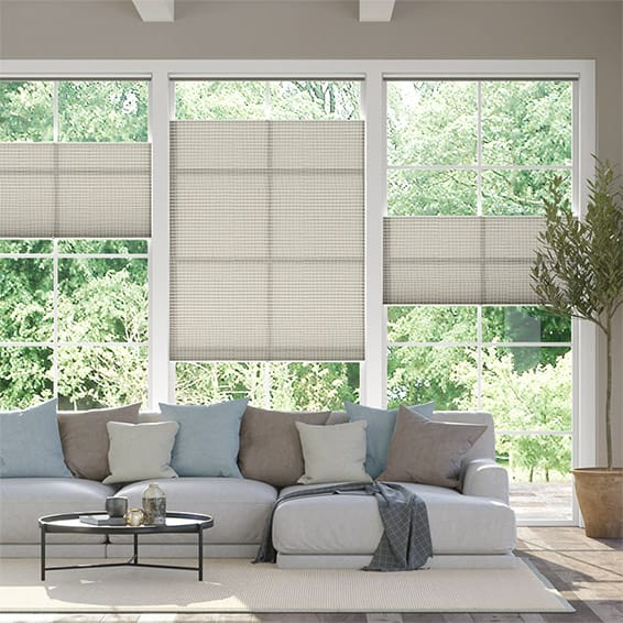 DuoLight Mosaic Warm Grey Top Down Bottom Up Thermal Blind