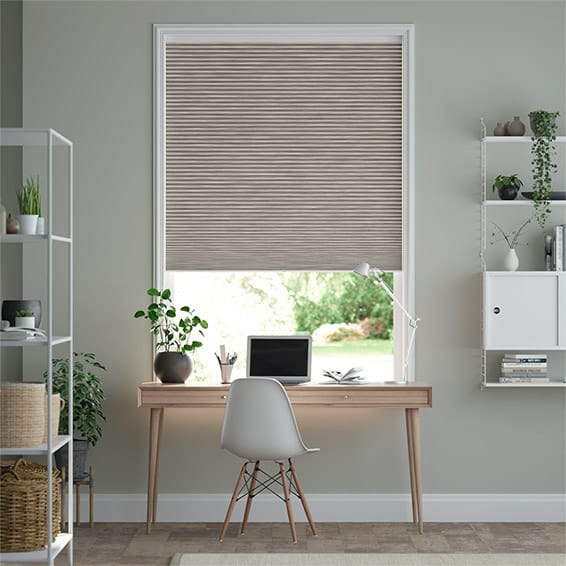 DuoShade Cordless Grain Fossil Grey Thermal Blind