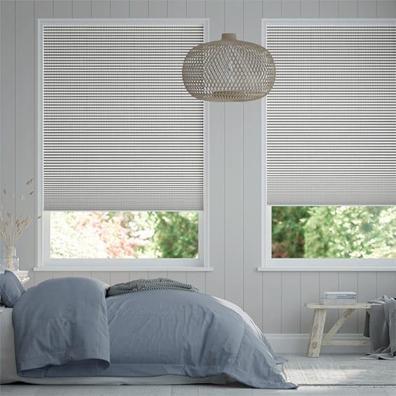 DuoShade Cordless Mosaic Cool Grey Thermal Blind