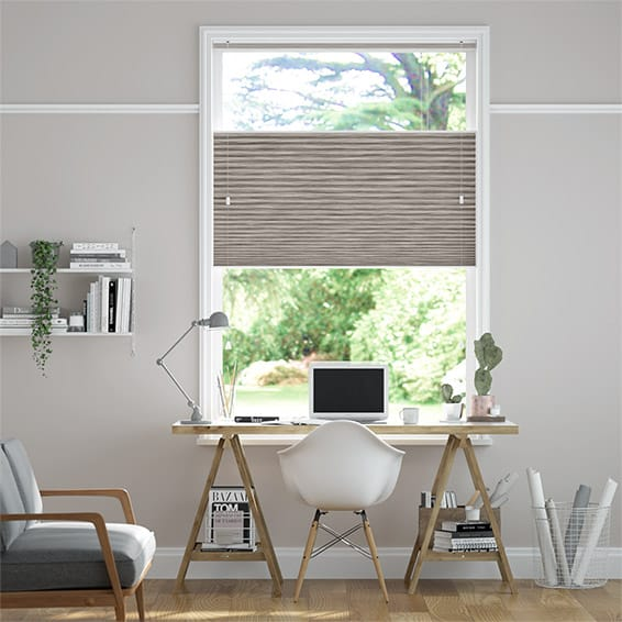 DuoShade Grain Fawn Top Down Bottom Up Thermal Blind