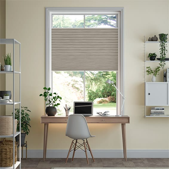 PerfectFIT DuoShade Grain Fossil Grey Thermal Blind