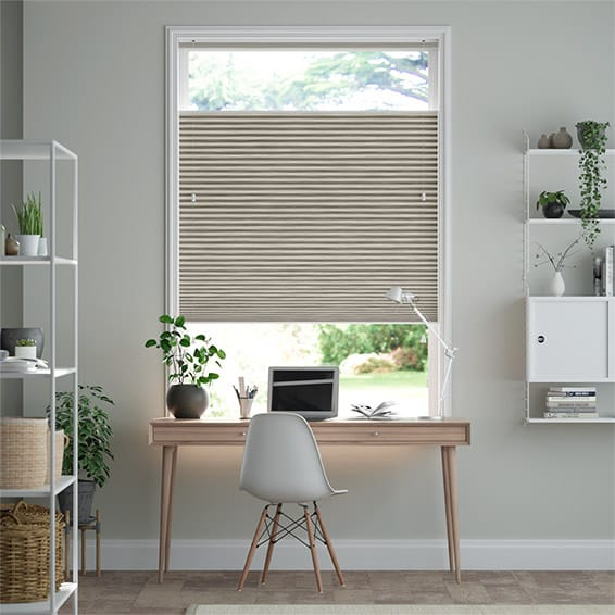 DuoShade Grain Fossil Grey Top Down Bottom Up Thermal Blind