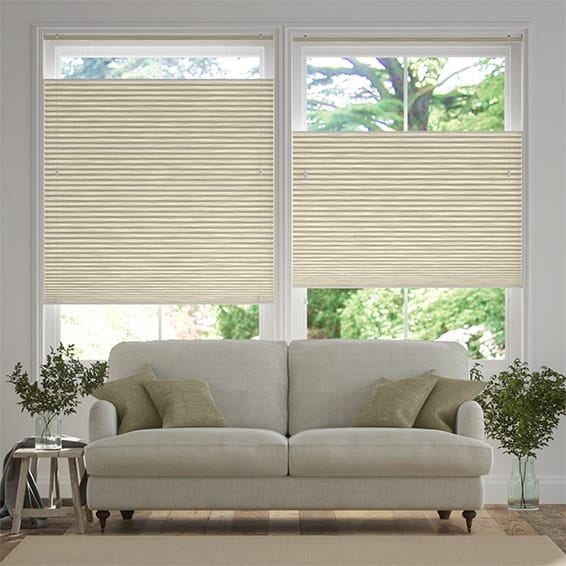 DuoShade Grain Parchment Top Down Bottom Up Thermal Blind