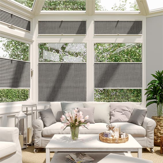 DuoShade Grey Weave EasiFIT Thermal Blind