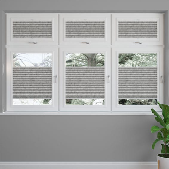 PerfectFIT DuoShade Grey Weave Thermal Blind