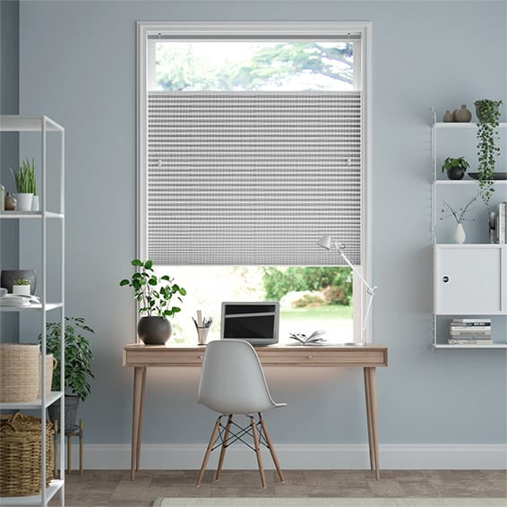 DuoShade Mosaic Cool Grey Top Down Bottom Up Thermal Blind