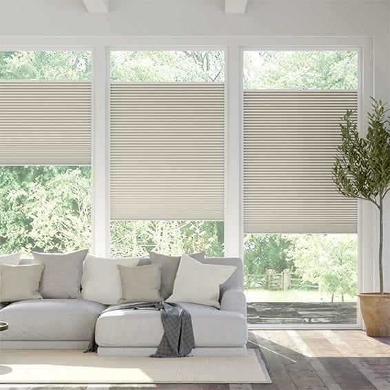 PerfectFIT DuoShade Mosaic Warm Grey Thermal Blind
