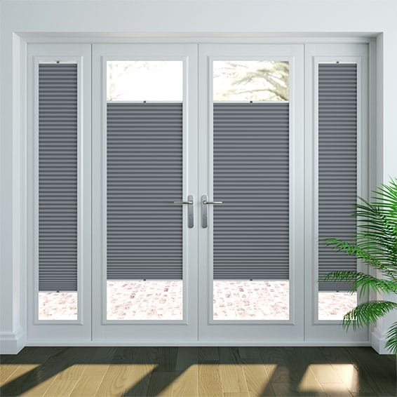 PerfectFIT DuoShade Slate Blue Thermal Blind