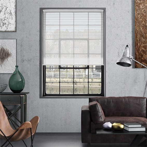DuoVoile Cordless Snow Pleated Blind