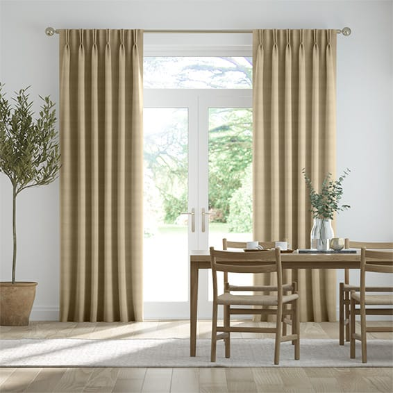 Dupioni Faux Silk Flax Curtains
