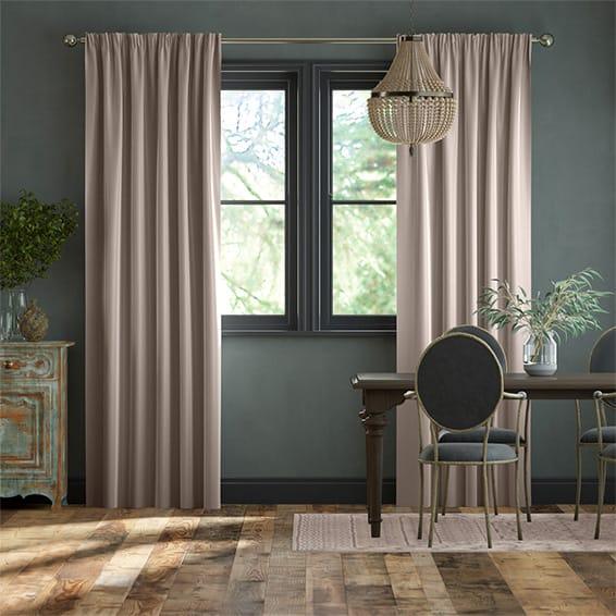 Dupioni Faux Silk Mink Curtains