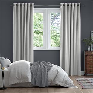 Dupioni Faux Silk Starlight Grey Curtains thumbnail image