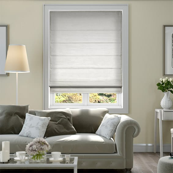 Dupioni Faux Silk Starlight Grey Roman Blind