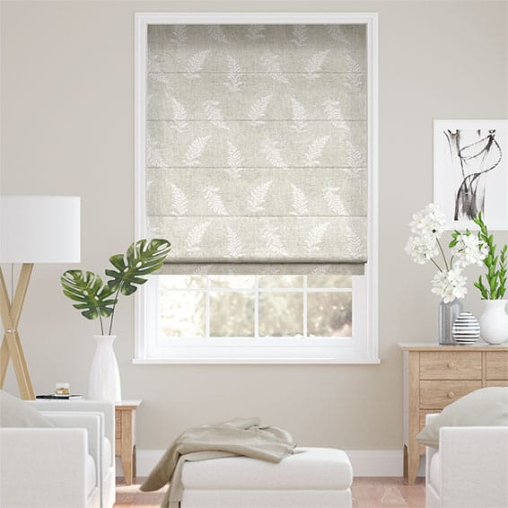 Eaton Embroidered Neutral Roman Blind