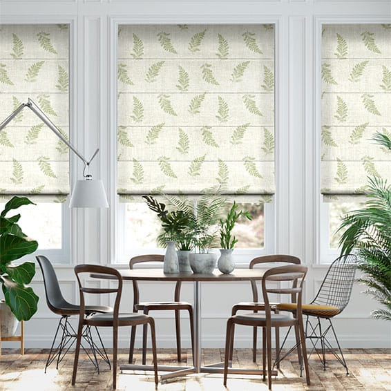 Eaton Embroidered Olive Roman Blind