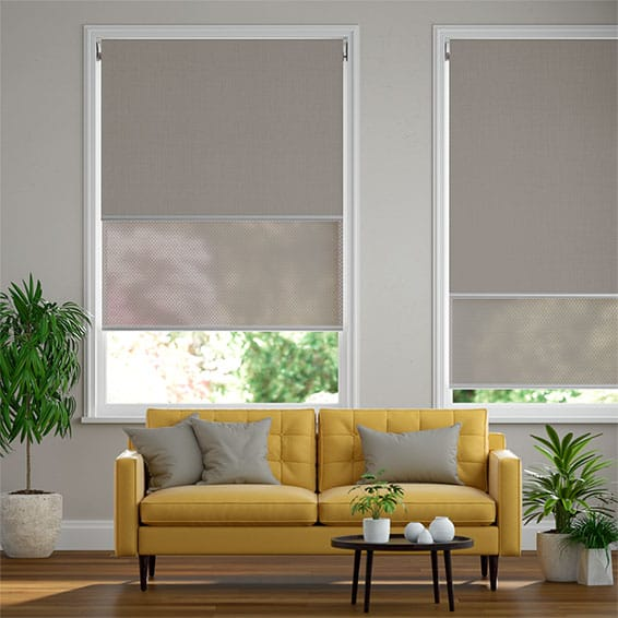 Eclipse Dove Grey & City Grey Double Roller Blind