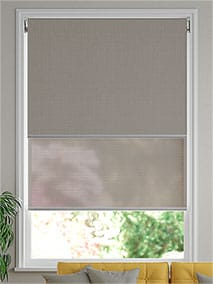 Eclipse Dove Grey & City Grey Double Roller Blind thumbnail image