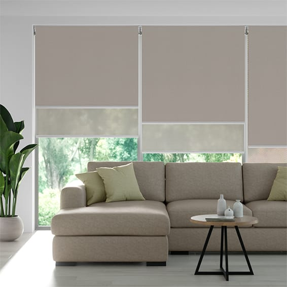 Eclipse Pebble & Dune Double Roller Blind