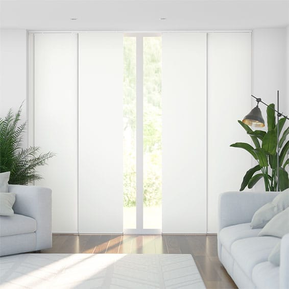 Eclipse White Panel Blind