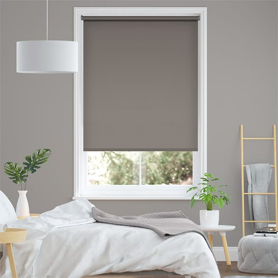 Eco-Friendly Blackout Mid Grey Roller Blind