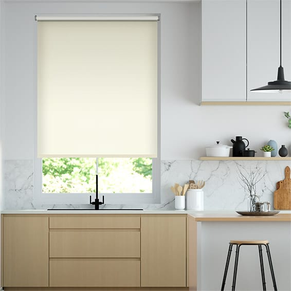 Eco-Friendly Blackout Vanilla Roller Blind