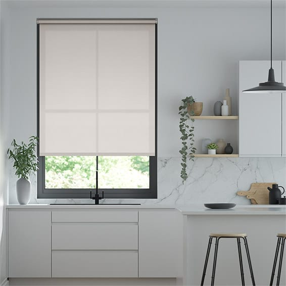 Eco-Friendly Dimout Dove Grey Roller Blind