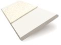 Eggshell & Ivory Faux Wood Blind - 50mm Slat sample image