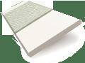 Eggshell & Nickel Faux Wood Blind - 50mm Slat sample image