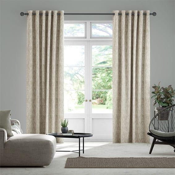 Eglomise Truffle Curtains