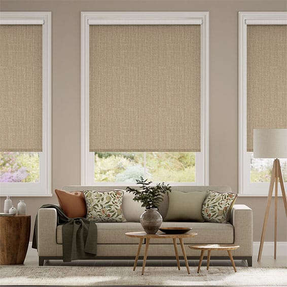 Electric Choices Cavendish Oatmeal Roller Blind
