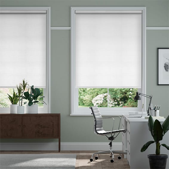 Electric Choices Felicity True White Roller Blind