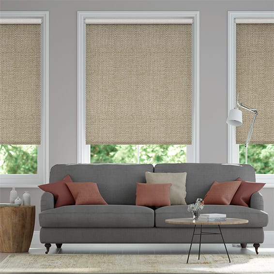Electric Choices Linen Hopsack Roller Blind