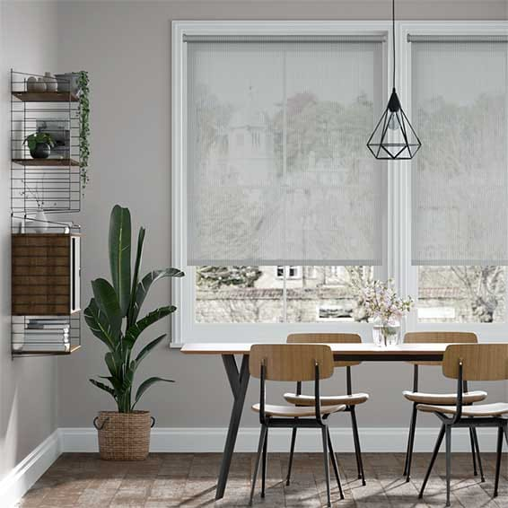 Electric Oculus Modern Grey Roller Blind