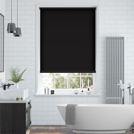 Electric Blackout Titan Atomic Black Roller Blind