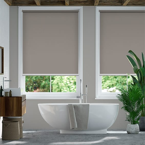 Electric Blackout Titan Fairview Taupe Roller Blind